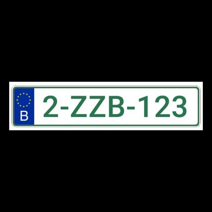 Afbeeldingen van Europese handelaarsplaat voor proefritten (ZZ-plaat)